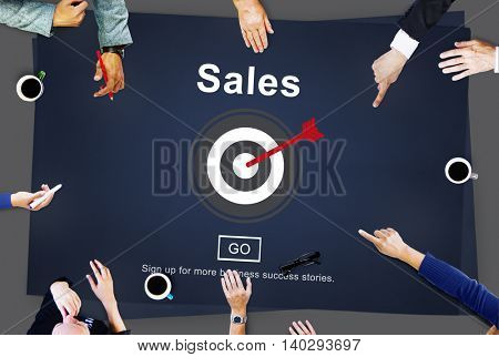 Sales Income Finance Business Commerce Concept