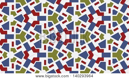 beautiful ceramic flat abstract multicolored geometric ornament for Wallpaper textiles ceramics. Seamless autumn on a light background. Positive emotions.