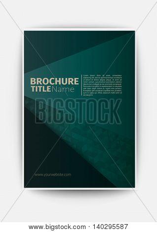 dark green business brochure blue Modern Vector abstract brochure / book / flyer design template flyer design layout template in A4 size, vector eps10.
