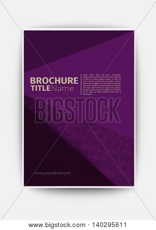 purple Modern Vector design template business brochure flyer design abstract brochure layout template in A4 size, vector eps10
