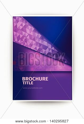 purple Modern Vector abstract blurry brochure / book / flyer design template business brochure flyer design layout template in A4 size, with blur purple background, vector eps10