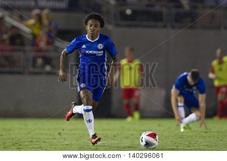 PASADENA, CA - JUNE 4: Willian during the 2016 ICC game between Chelsea & Liverpool on July 27th 2016 at the Rose Bowl in Pasadena, Ca.