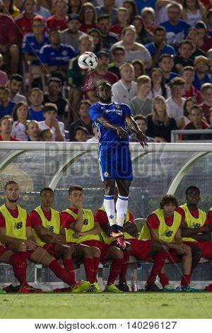 PASADENA, CA - JUNE 4: Victor Moses during the 2016 ICC game between Chelsea & Liverpool on July 27th 2016 at the Rose Bowl in Pasadena, Ca.
