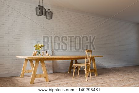 Modern & Loft Living / Working / 3D Render Image