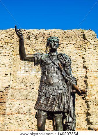 Emperor Trajan Statue Hdr