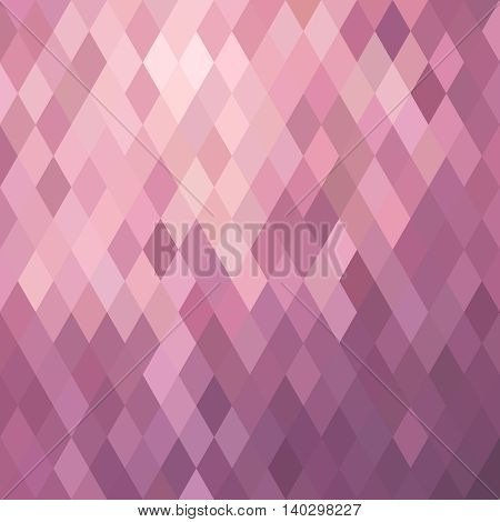 Pink Background Illustration With Rhombus