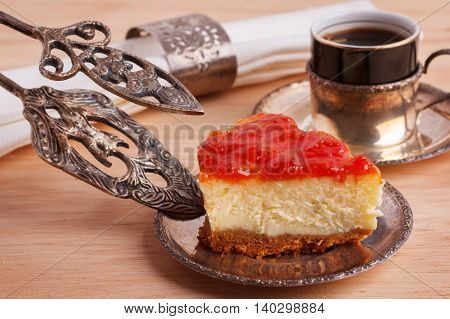 Cheesecake With Brazilian Goiabada Jam Of Guava