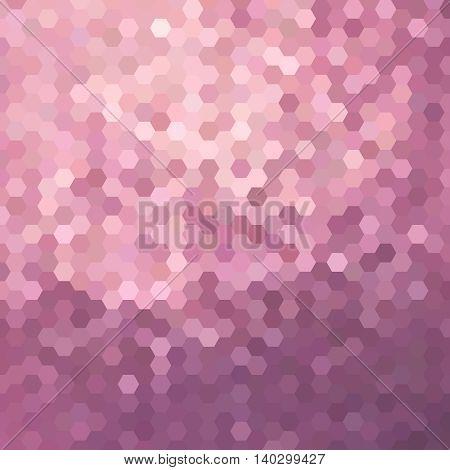 Pink Honeycomb Background Illustration