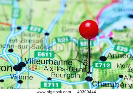 Aix-les-Bains pinned on a map of France