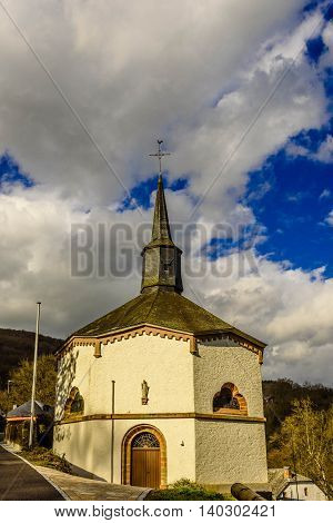 Unusual Octagonal chapel in Heiderscheidergrund village,  Luxembourg