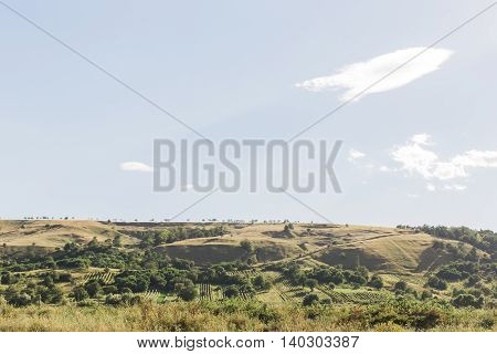 Summer Landscape In The Mountains And Hills, Moldova