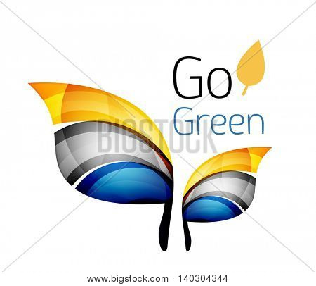 Go green. Leaf nature concept. icon