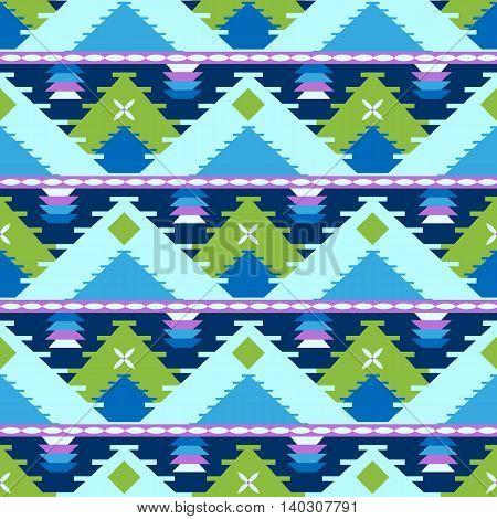 Geometric seamless pattern with tribal ethnic motifs