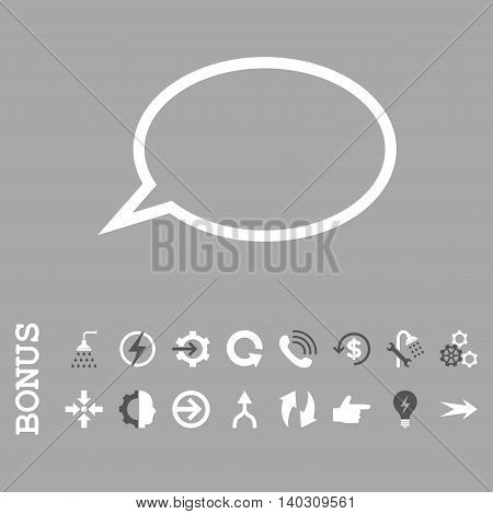 Hint Cloud glyph bicolor icon. Image style is a flat iconic symbol, dark gray and white colors, silver background.
