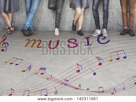 Music Note Art of Sound Instrumental Concept