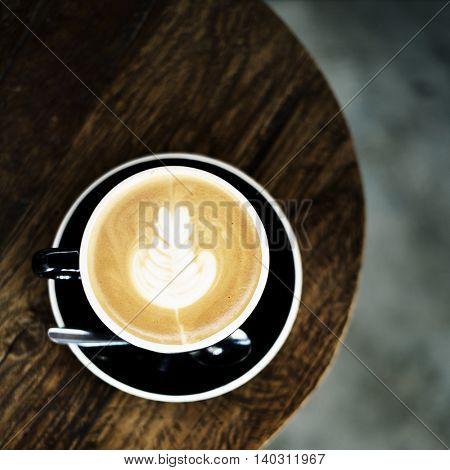 Coffee Shop Cappuccino Serve Concept