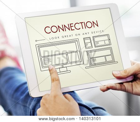 Responsive Design Layout Connection Content Concept