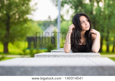 Young Thoughtful Brunette