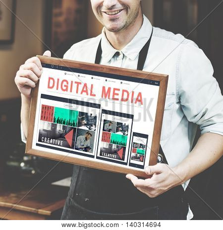 Digital Media Technology Graphic Concept
