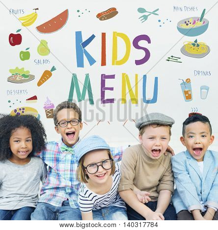 Kids Menu Cuisine Dishes Meal Concept