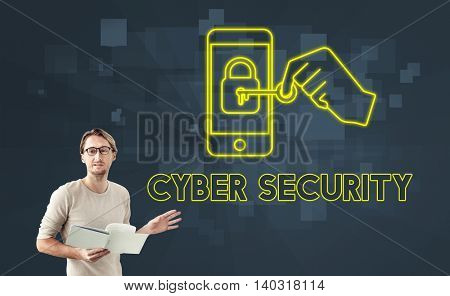 Cyber Security Online Safety Graphic Concept