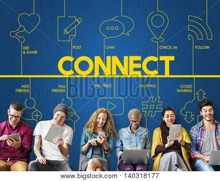 Blog Internet Networking Connect Communication Concept