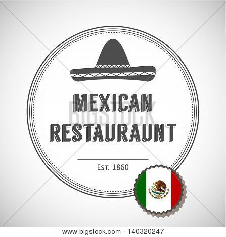 Mexican restaurant logo. Badges, labels, logotype for Mexican food. Mexican vector logo design template