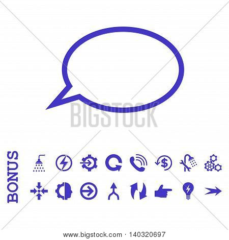 Hint Cloud glyph icon. Image style is a flat pictogram symbol, violet color, white background.