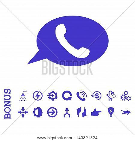 Phone Message glyph icon. Image style is a flat iconic symbol, violet color, white background.