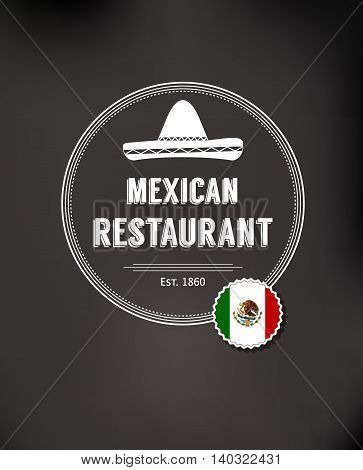 Badges, labels, logotype for Mexican food. Mexican vector logo design template