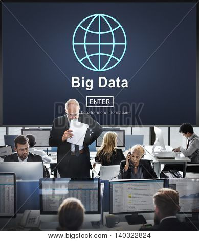 Big Data Information Storage System Network Technology Concept