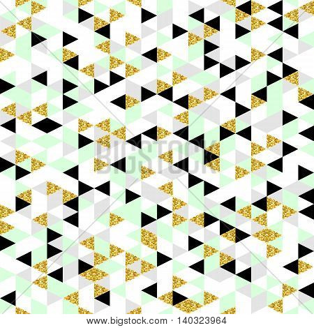 Moderm geometric seamless pattern. Trendy triangular background