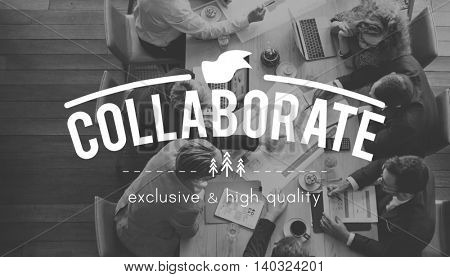 Collaborate Collaboration Strategy Support Concept