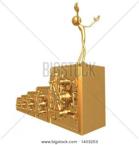 Golden Bank Vault Bar Graph