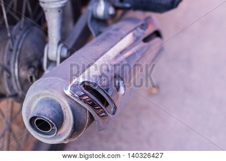 motorcycle Exhaust , object for use on road