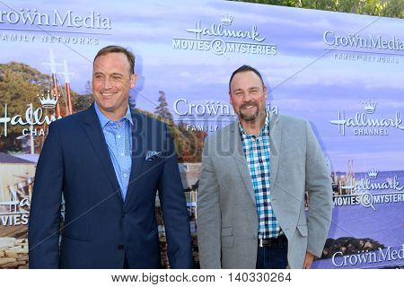 LOS ANGELES - JUL 27:  Matt Iseman, Matt Rogers at the Hallmark Summer 2016 TCA Press Tour Event at the Private Estate on July 27, 2016 in Beverly Hills, CA