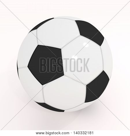 Realistic Soccer Ball On White Background.