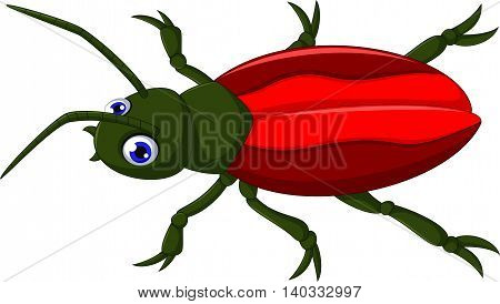 cute red beetle cartoon for you design