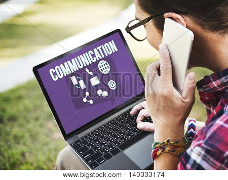 Communication Globe Speech Message Mail Concept