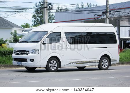 CHIANGMAI THAILAND -JULY 26 2016: Foton View cs2 van of Ministry of Public Health. On road no.1001 8 km from Chiangmai Business Area.