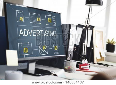 Advertising Commercial Marketing Digital Branding Concept