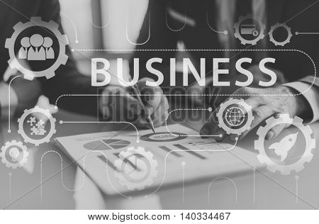 Business Strategy Growth Corporation Concept