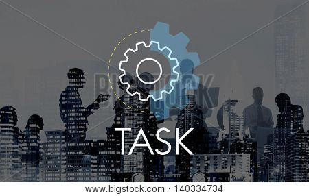 Task Business Action Analysis Development Concept