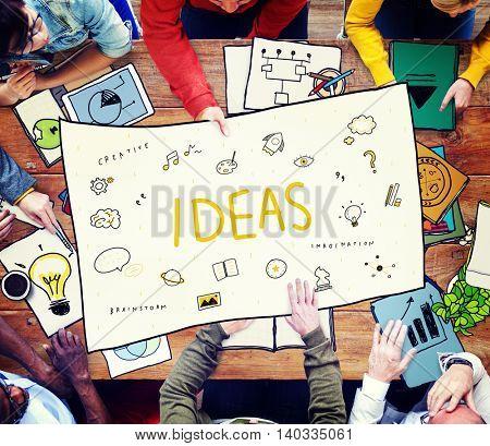 Ideas Lightbulb Music Speech Icon Concept