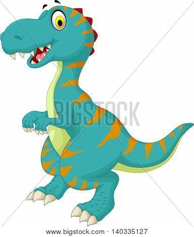 funny dinosaur standing cartoon for you design