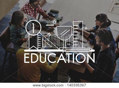 Education Learning Studies Ruler Pen Concept
