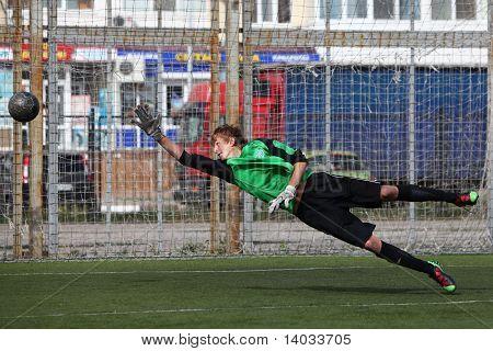 Goalkeeper on gates