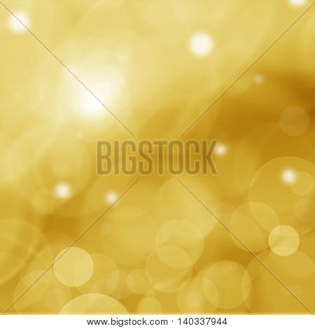 Christmas background and golden abstract glitter defocused background with blurred bokeh.