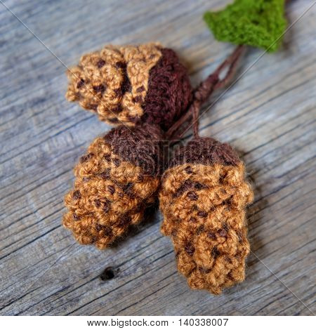 Xmas Ornament, Knitted Christmas Pinecone