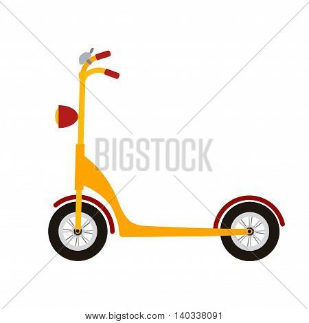 Scooter on white background. Design element for poster, t-shirt.